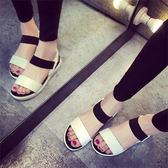 ZUCAS -韓國大流行 寬版配色羅馬涼鞋 35-39號 【NN-2730】