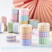 【BlueCat】日系清新格紋系列和紙膠帶 (4入裝)