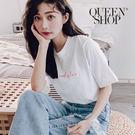 Queen Shop【01038087】LOVE字母繡字圓領T*現+預*