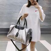 短途運動休閒手提旅行包健身包女士韓版出差行李包男旅游行李袋潮『新佰數位屋』