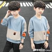 男童上衣 男童春秋裝長袖T恤新款中大童衛衣男孩上衣打底衫兒童體恤潮