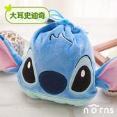 【C款大耳史迪奇束口袋】Norns 迪士尼正版 Stitch 星際寶貝 束口袋 拍立得相機包
