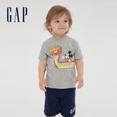 Gap男幼迪士尼印花圓領短袖T恤591852-麻灰色