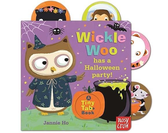 Tiny Tabs:Wickle Woo Has A Halloween Party 貓頭鷹Woo的萬聖節派對 硬頁拉拉書(美國版)