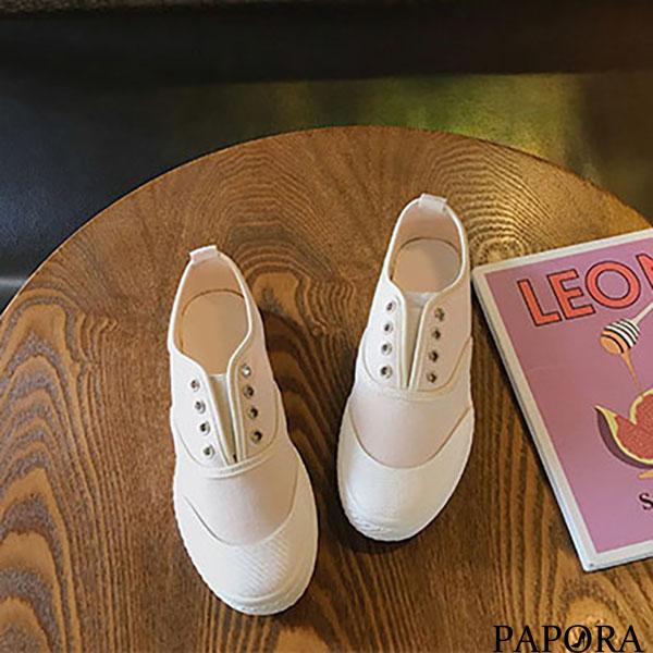 休閒懶人平底帆布鞋K8065黑/黃/杏PAPORA
