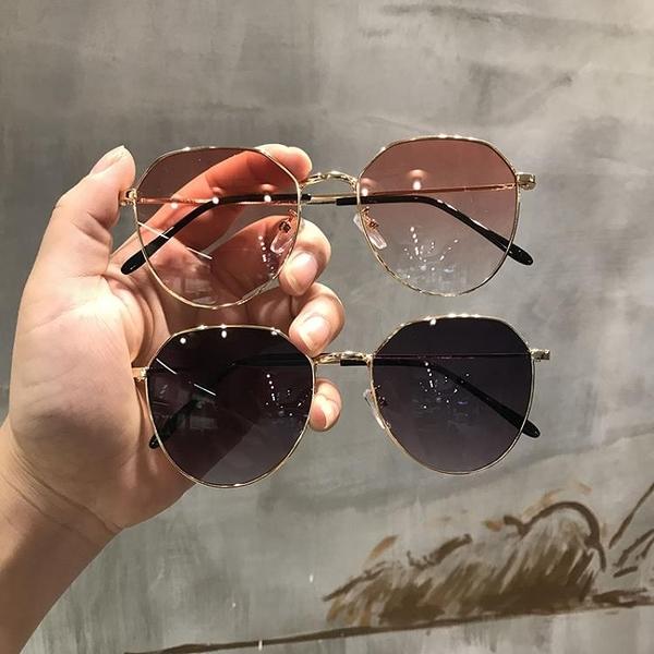墨鏡女透明粉色2019新款網紅橢圓形太陽鏡ins韓版復古方框眼鏡女