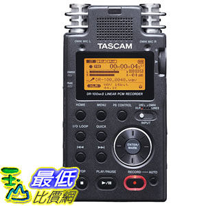 [103 美國直購] TASCAM DR-100mkII 2-Channel 數字錄音機 Portable Digital Recorder