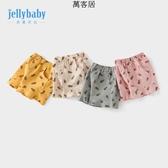 女寶寶夏天褲子1-3歲嬰兒休閒褲夏小兒童短褲外穿 萬客居
