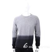 TRUSSARDI 撞色漸層皮革標灰色針織羊毛衫 1810250-06