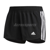 adidas 短褲 Pacer 3-Stripes Woven Shorts 黑 白 女款 貼身 運動休閒 【PUMP306】 EC0475