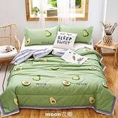 空調毯空調毯夏涼毯薄款夏季毯子單人學生雙人薄毯子春毯芯四件套夏毯