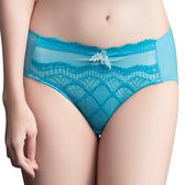 思薇爾-晶采34BRA系列M-XXL蕾絲中腰三角內褲(鴨皇藍)