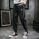 愛迪達Adidas三葉草男長褲九分褲休閒棉褲長褲經典大尺碼黑灰褲運動褲/澤米