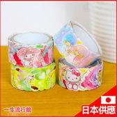 《日貨》Hello Kitty 凱蒂貓 美樂蒂 雙子星 正版 花瓣貼紙 紙膠帶 DIY手作 小物 文具 C13077