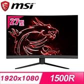 【南紡購物中心】MSI 微星 Optix MAG272C 27型 165Hz電競曲面螢幕