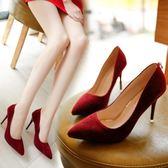 韓版時尚高跟鞋淺口性感夜店風細跟鞋學生女鞋簡約