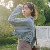 牛仔外套春秋季女2019新款韓版學生bf原宿寬鬆怪味少女短款夾克潮