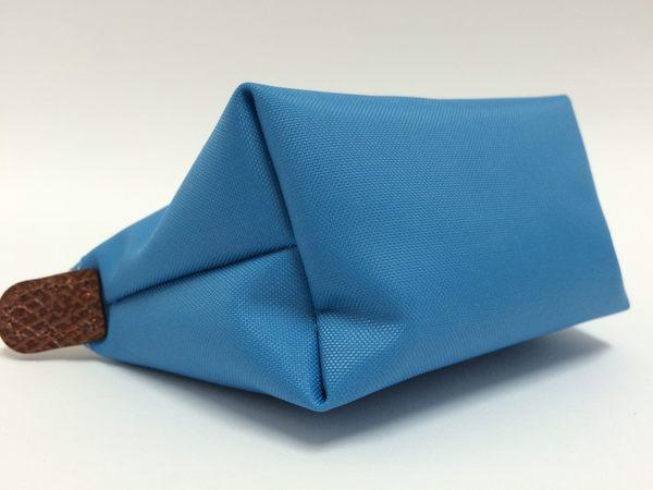 Longchamp 拉鍊式水餃零錢包~ 海水藍(矢車菊) Bleulet  ~現貨特價