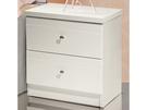 床頭櫃 SB-607-3 克莉絲白色亮烤床頭櫃【大眾家居舘】