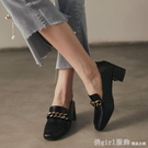 牛津鞋 英倫風小皮鞋女2020年秋冬新款高跟鞋粗跟樂福鞋中跟百搭單鞋加絨 618購物節