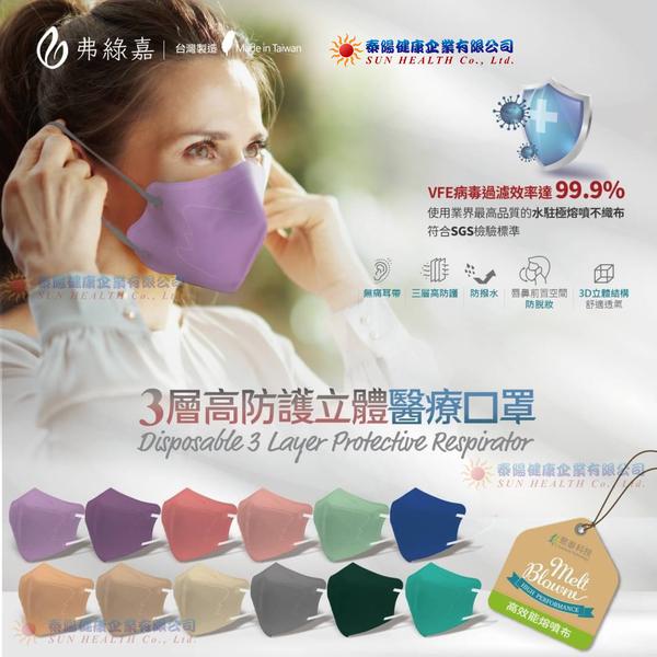 弗綠嘉 醫療級 KN95立體醫療口罩(3層高防護)20入/盒(單片獨立包裝)