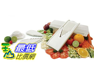 [美國直購] Swissmar V-5000 Borner 蔬果 食物切片器 V-Prep Mandoline , 7 Piece Set
