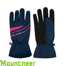 【Mountneer 山林 PRIMALOFT防水觸控手套《丈青/桃紅》】12G08/防風透氣/保暖/騎車手套