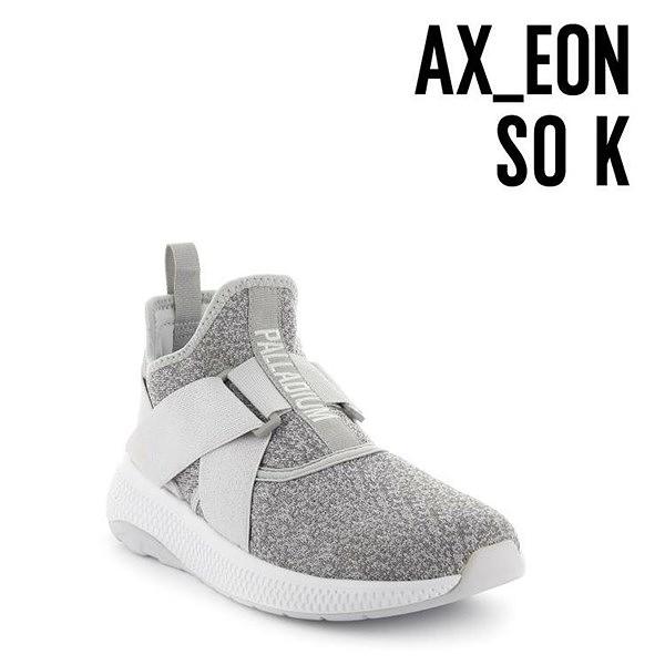 【南紡購物中心】【PALLADIUM】AX_EON LACK K 繃帶襪套式休閒鞋 / 灰 女鞋