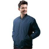 【Takaka】男 保暖飛行棉外套『黑藍』H85516 簡約立領 夾克 棒球外套 運動外套 防潑水 防風