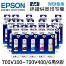 EPSON 6黑9彩組 T00V100+T00V200+T00V300+T00V400 原廠盒裝墨水 /適用 EPSON L3110/L3150