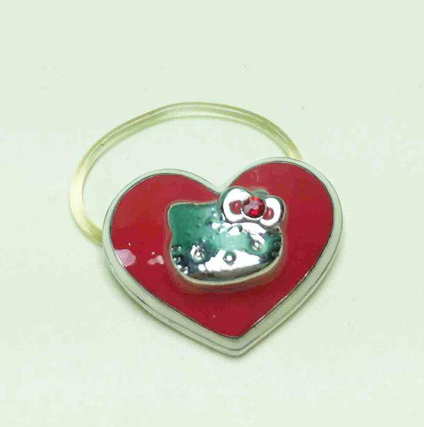 【震撼精品百貨】Hello Kitty 凱蒂貓~造型戒指-愛心