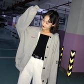 外套女韓版學生復古bf原宿風長袖寬鬆港風嘻哈棒球服