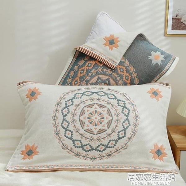 枕巾純棉一對裝高檔歐式全棉紗布防滑不脫落四季通用枕頭巾單人 居家家生活館