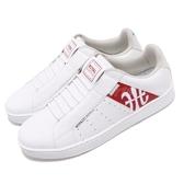 Royal Elastics 休閒鞋 Icon Genesis Chunk 白 紅 皮革鞋面 無鞋帶 橡膠大底 男鞋【PUMP306】 01992013