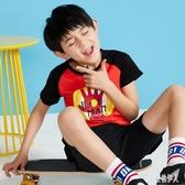 童裝中大碼男童短袖t恤新款韓版打底衫棉質兒童裝男童夏 PA4228『紅袖伊人』