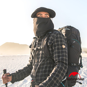 Naturehike 全方位一帽多用可拆式透氣防曬遮陽帽 黑色