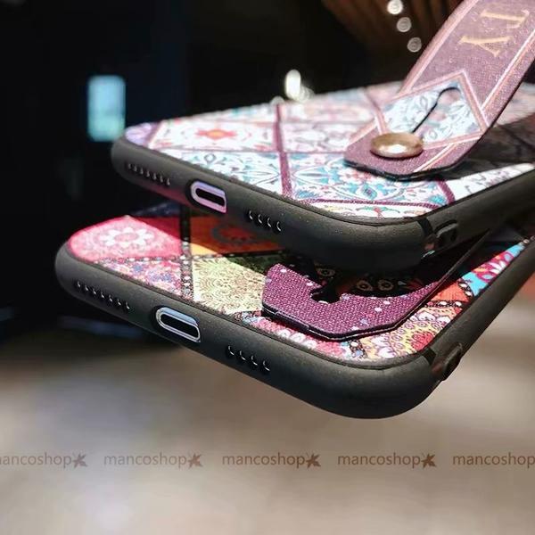圖騰腕帶軟殼 三星 Note9 Note8 手機殼 幾何格紋 影片支架 保護殼保護套 全包邊防摔殼