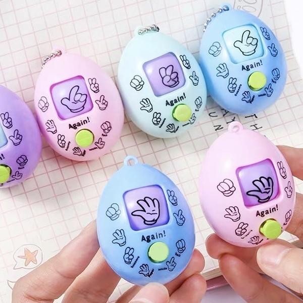 公平猜拳蛋 猜拳機 划拳蛋 剪刀石頭布遊戲蛋 對決玩具 創意 益智 親子互動 鑰匙扣