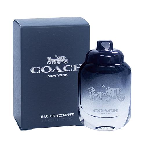 【COACH】New York 時尚經典 男性淡香水 4.5ml 原廠沾式小香