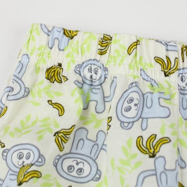 【愛的世界】小猴子純棉長褲2件組/3個月~1歲-台灣製- ★幼服推薦