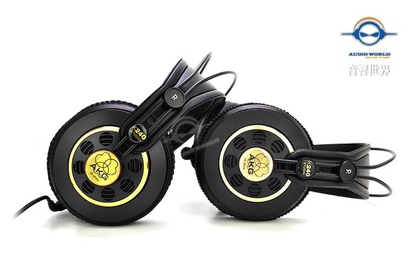 快速出貨【音響世界】AKG K240 Studio超經典專業監聽耳機。獨家送耳機升級線+進口收納袋