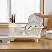 家用廚房瀝水碗架塑料置物架收納架碗碟瀝水籃置碗架【極簡生活】