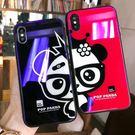 【SZ35】情侶熊貓藍光玻璃殼 iphone 7/8手機殼 iphone X 手機殼 iphone6splus玻璃殼
