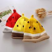 韓國嬰兒帽子秋冬季薄款針織帽兒童西瓜帽男童潮女寶寶毛線帽冬天
