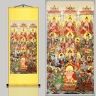 新品全佛圖佛祖 開光結緣佛像 絲綢卷軸掛畫 滿堂佛裝飾畫已裝裱 熊熊物語