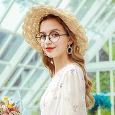 遮陽帽復古夏季遮陽帽女圓頂休閒氣質學生時尚防曬帽子潮 貝兒鞋櫃