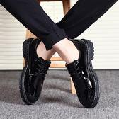 小皮鞋男黑色英倫商務休閒正裝青年韓版男士內增高工作鞋廚師鞋子  魔法鞋櫃
