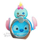 〔小禮堂〕迪士尼 Tsum Tsum 造型壓克力手機指環架《史迪奇.堆疊》可360度旋轉 8039311-10108