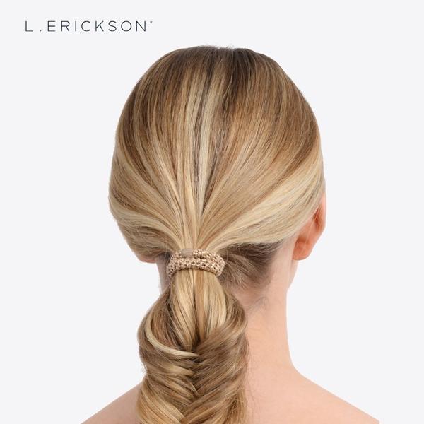 L. ERICKSON 彈力髮圈-8入〈摩洛哥紫紅〉