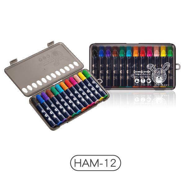 【雄獅】HAM-12 雄獅毛毛獸彩色筆 (12色)